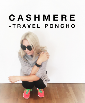 Cashmere Travel Poncho Monique van Tulder
