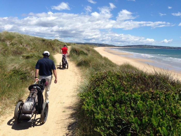 The Husband's natural habitat...Barnbougle Dunes Tasmania