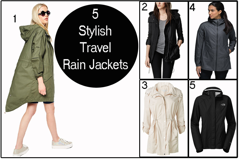 Packing Tips from The Urban Mum - 5 stylish travel rain jackets - what to pack