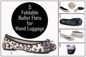 What to Pack in Carry on Luggage, foldable Ballet Flats
