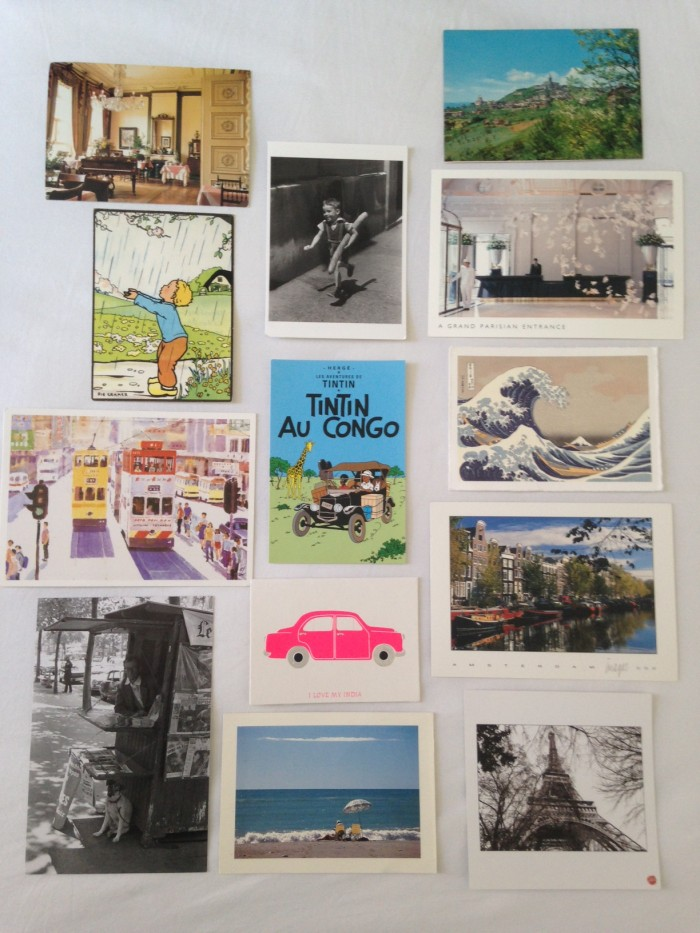 Holiday Souvenirs, postcards from around the globe