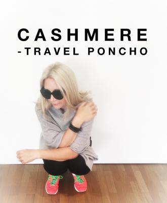Cashmere Travel Poncho Monique van Tulder